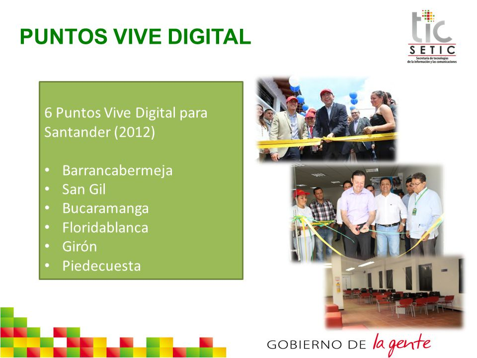 PUNTOS VIVE DIGITAL 6 Puntos Vive Digital para Santander (2012)