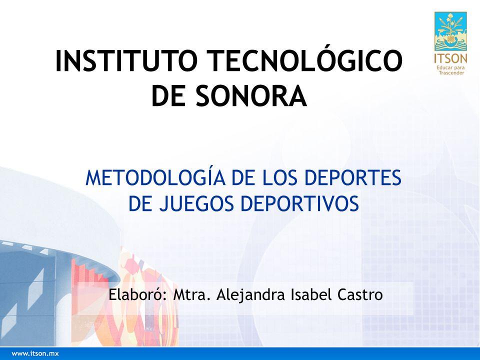 METODOLOGÍA DE LOS DEPORTES DE JUEGOS DEPORTIVOS