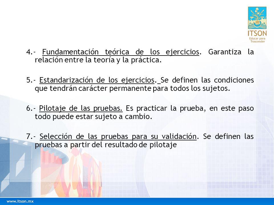 4. - Fundamentación teórica de los ejercicios