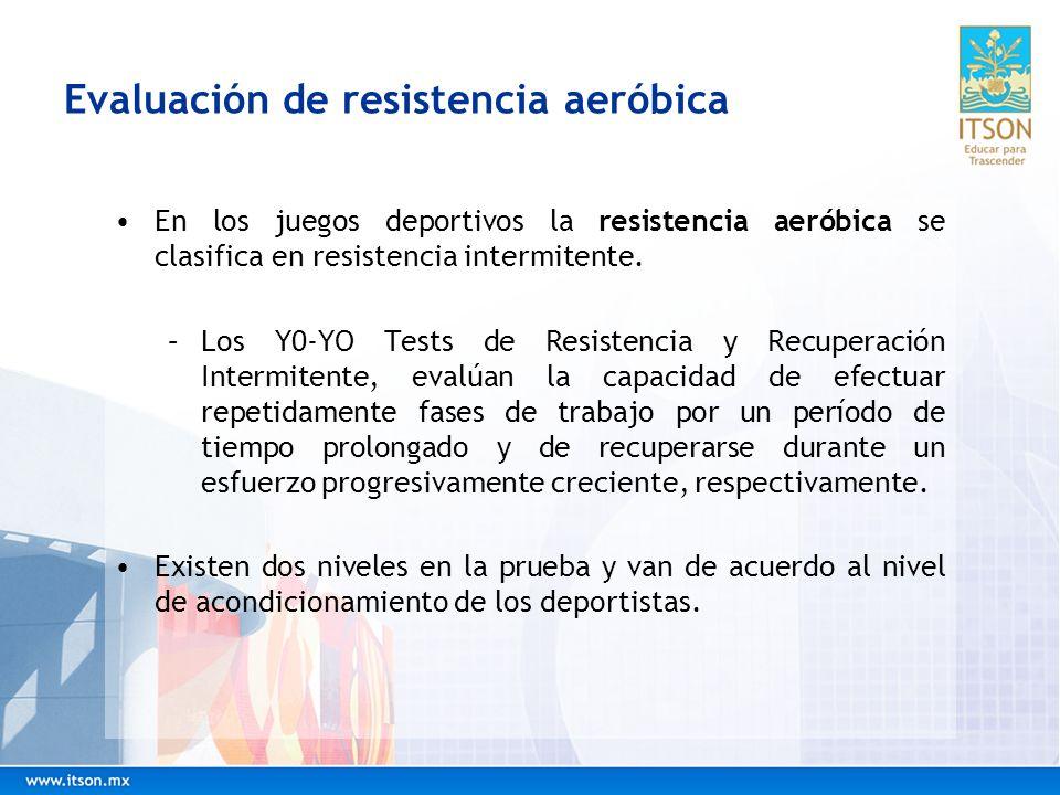 Evaluación de resistencia aeróbica