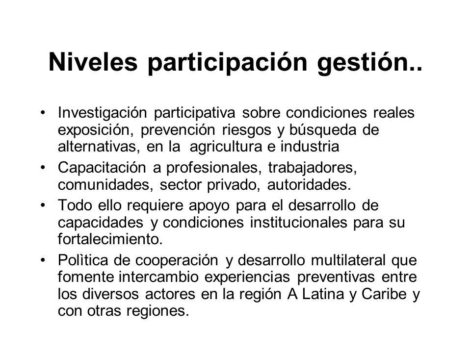 Niveles participación gestión..