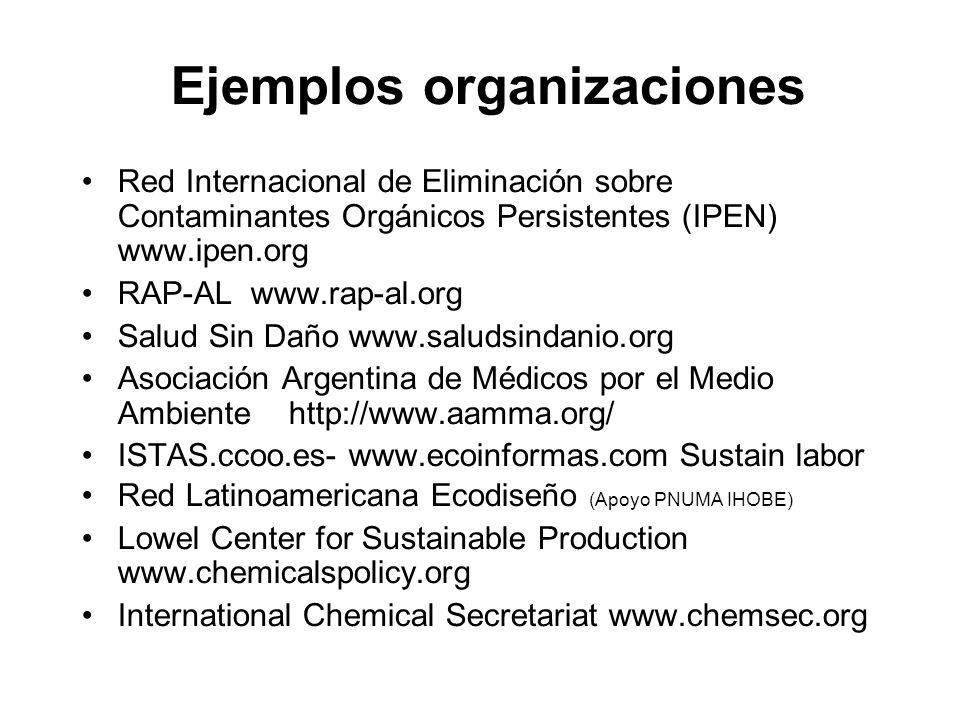 Ejemplos organizaciones