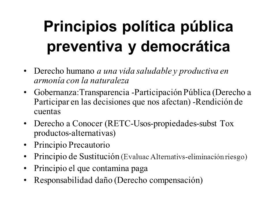 Principios política pública preventiva y democrática