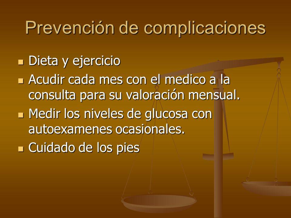 Prevención de complicaciones