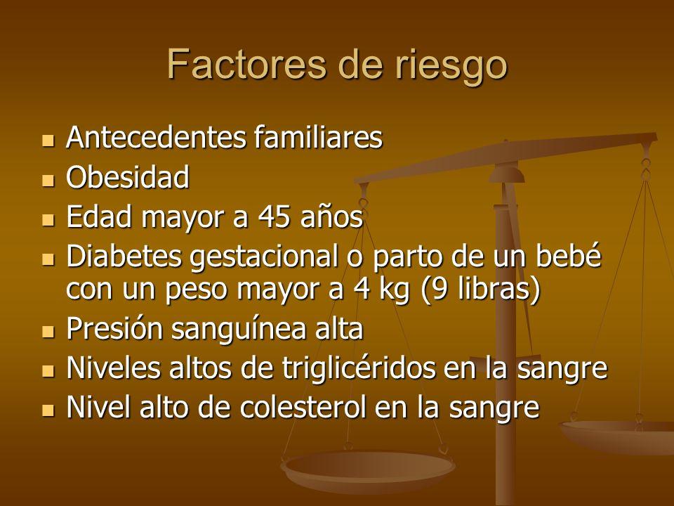 Factores de riesgo Antecedentes familiares Obesidad