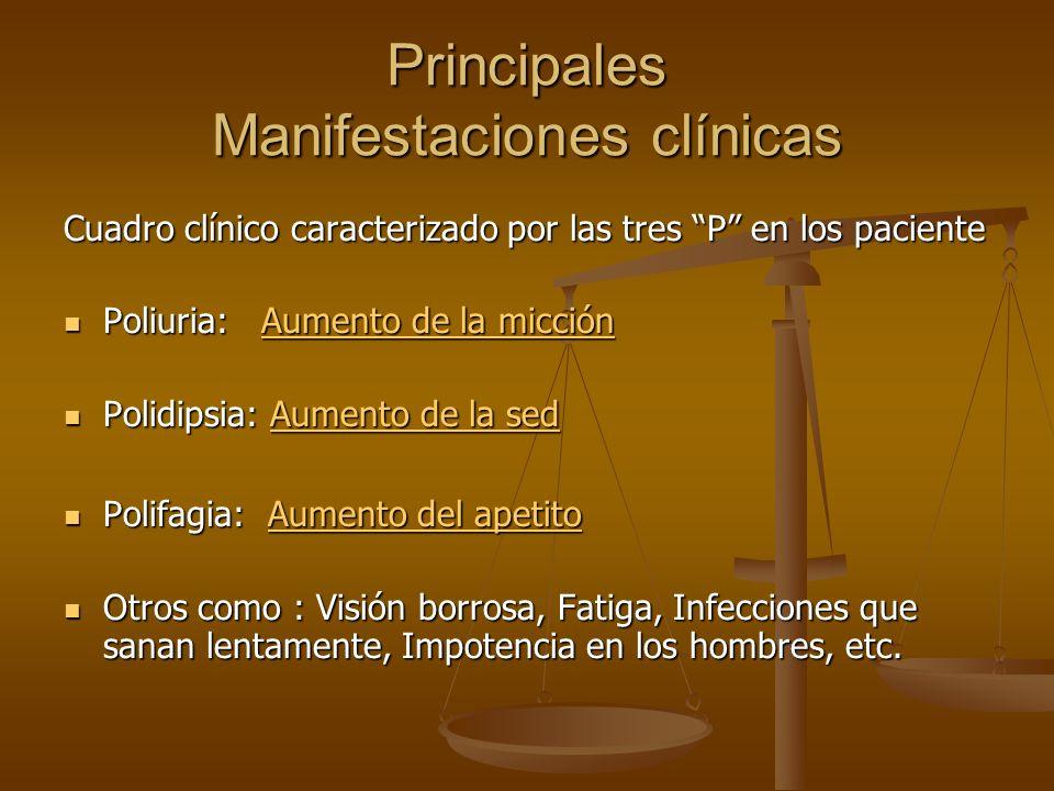 Principales Manifestaciones clínicas