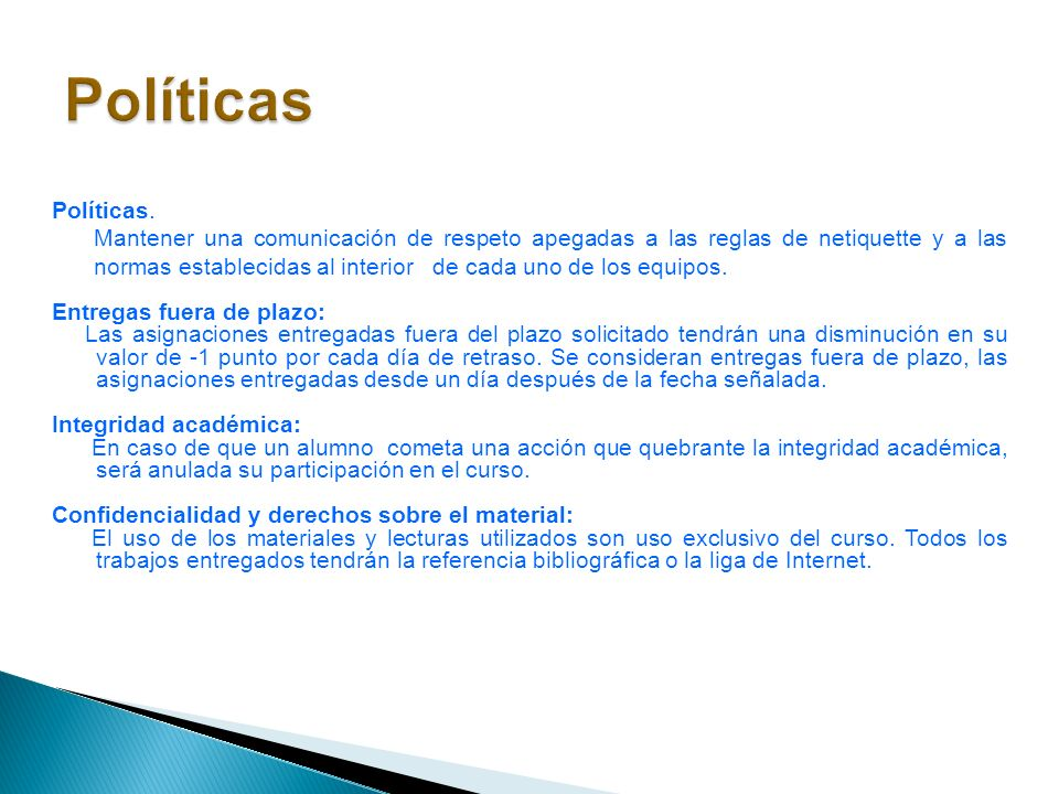 PolíticasPolíticas.