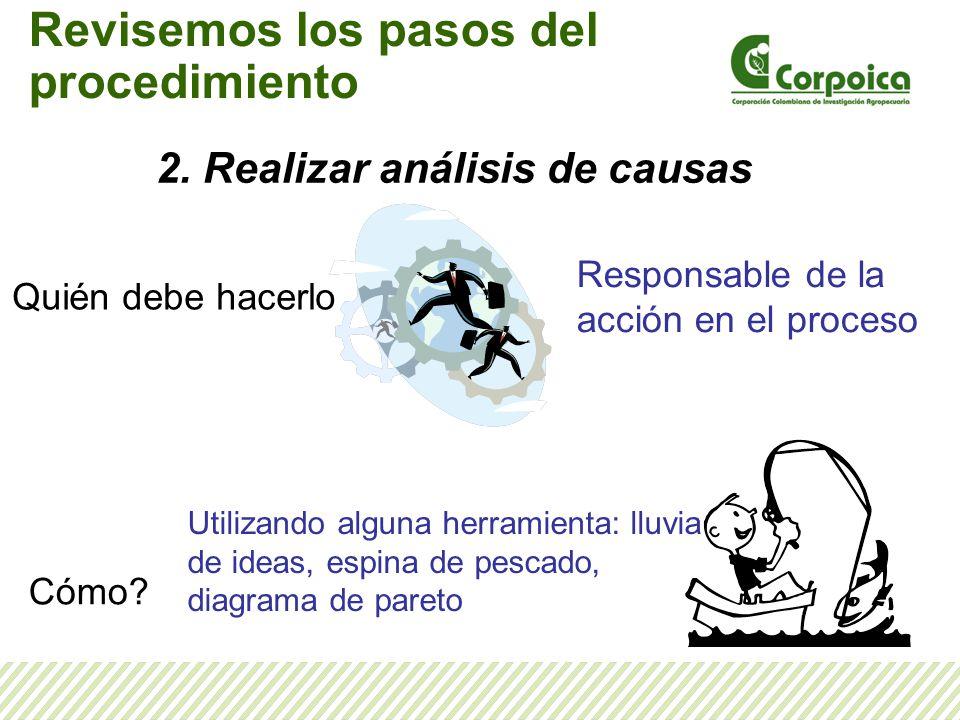 2. Realizar análisis de causas