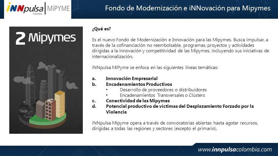 Fondo de Modernización e iNNovación para Mipymes