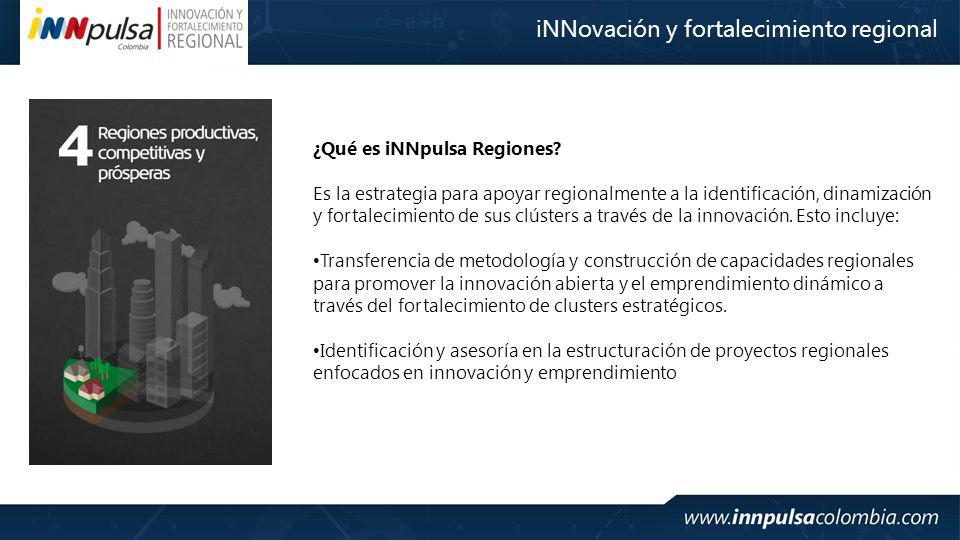 iNNovación y fortalecimiento regional