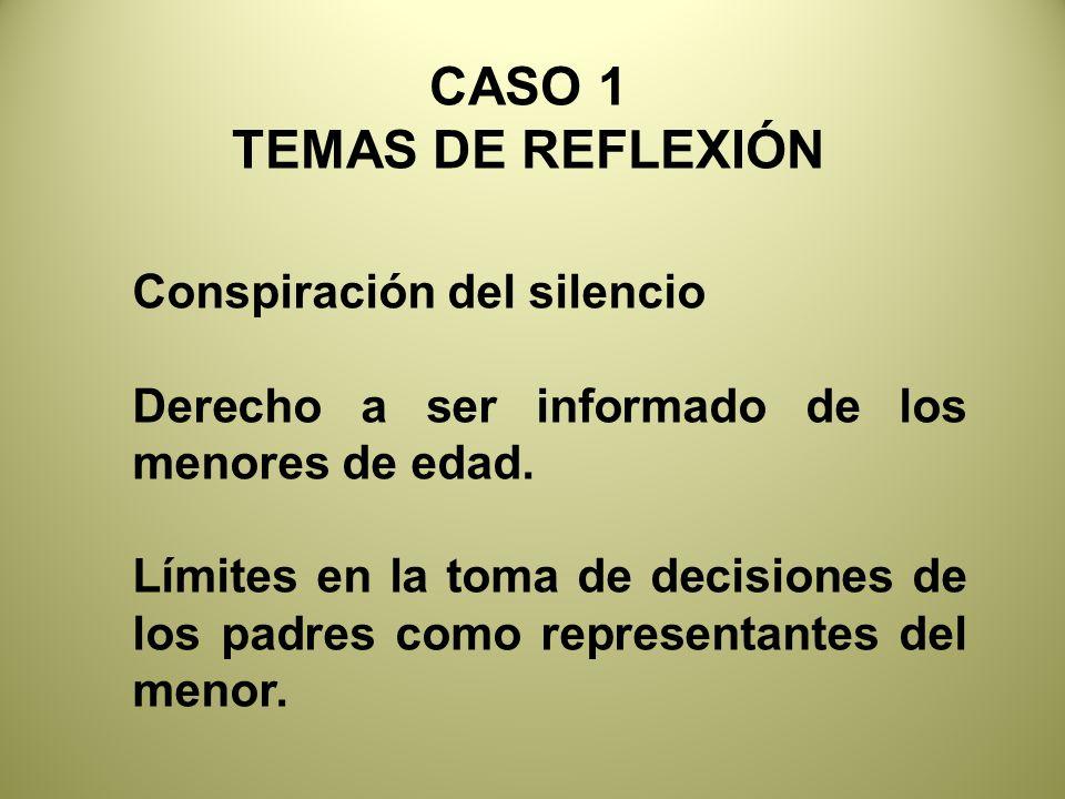 CASO 1 TEMAS DE REFLEXIÓN