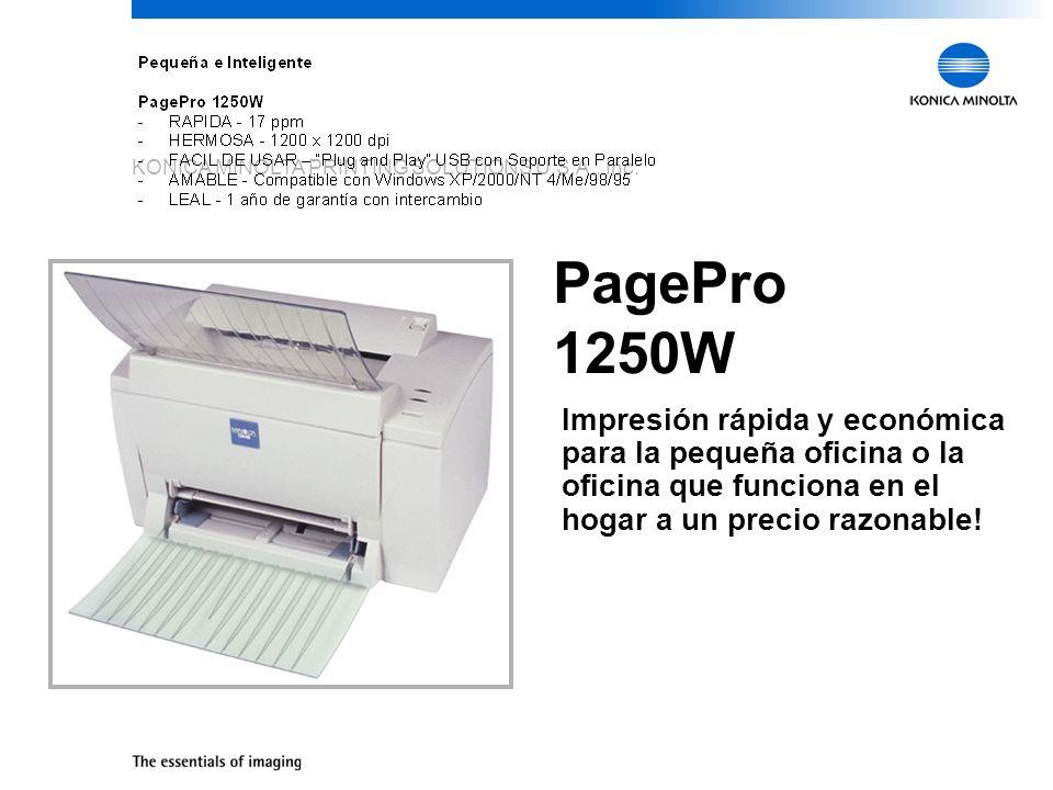 PagePro 1250WImpresión rápida y económica para la pequeña oficina o la oficina que funciona en el hogar a un precio razonable!