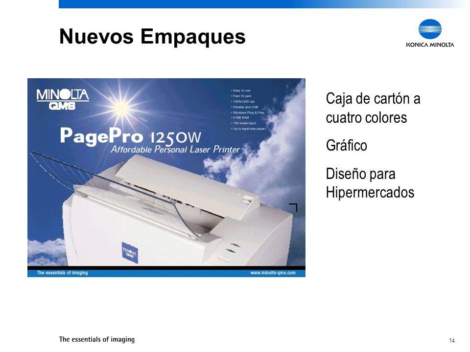 Nuevos Empaques Caja de cartón a cuatro colores Gráfico