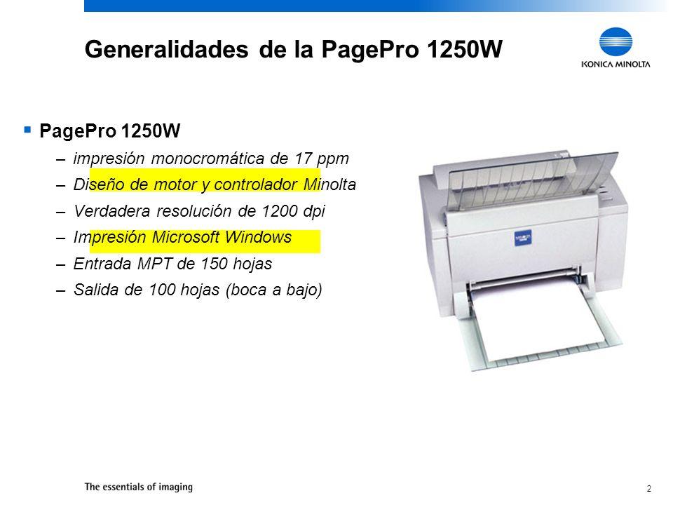 Generalidades de la PagePro 1250W