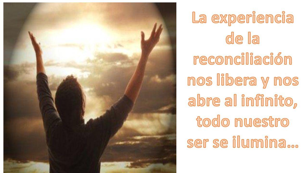 La experiencia de la reconciliación nos libera y nos abre al infinito, todo nuestro ser se ilumina…
