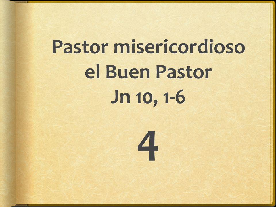 Pastor misericordioso el Buen Pastor Jn 10, 1-6
