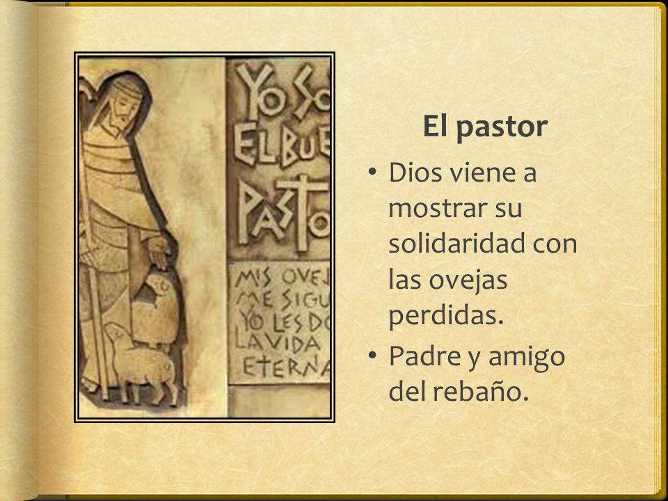 El pastor Dios viene a mostrar su solidaridad con las ovejas perdidas.