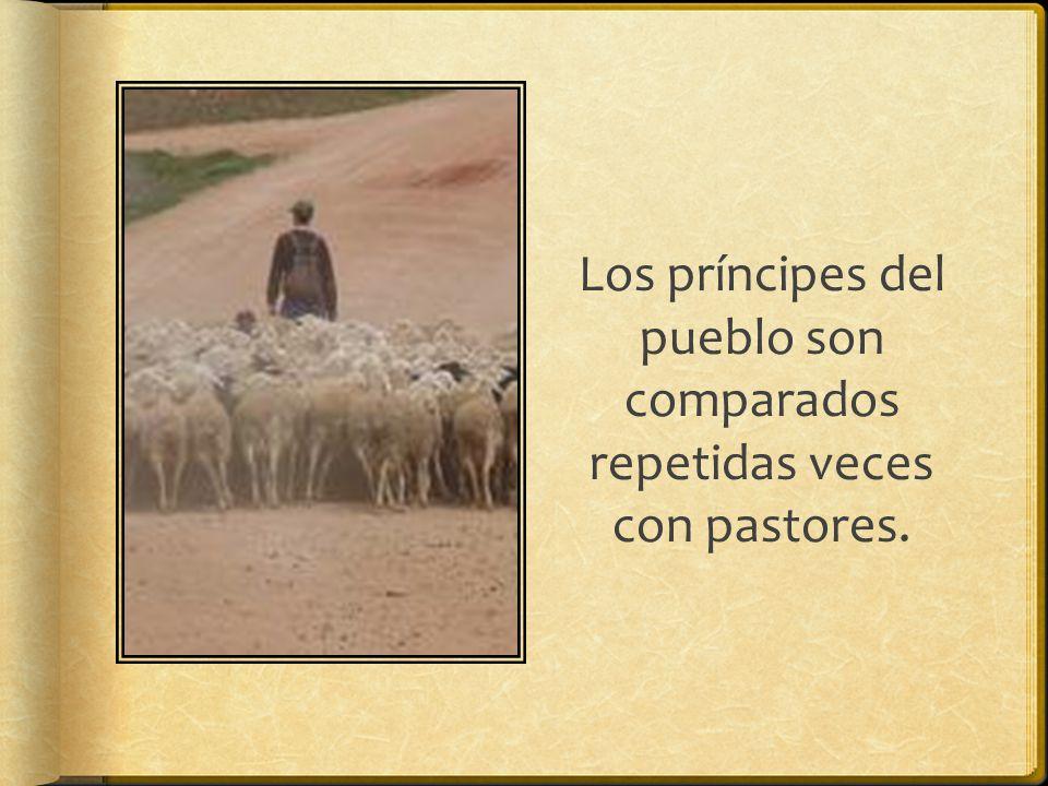 Los príncipes del pueblo son comparados repetidas veces con pastores.