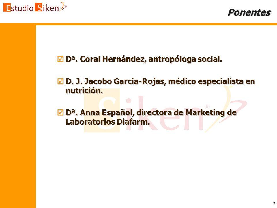 Ponentes Dª. Coral Hernández, antropóloga social.