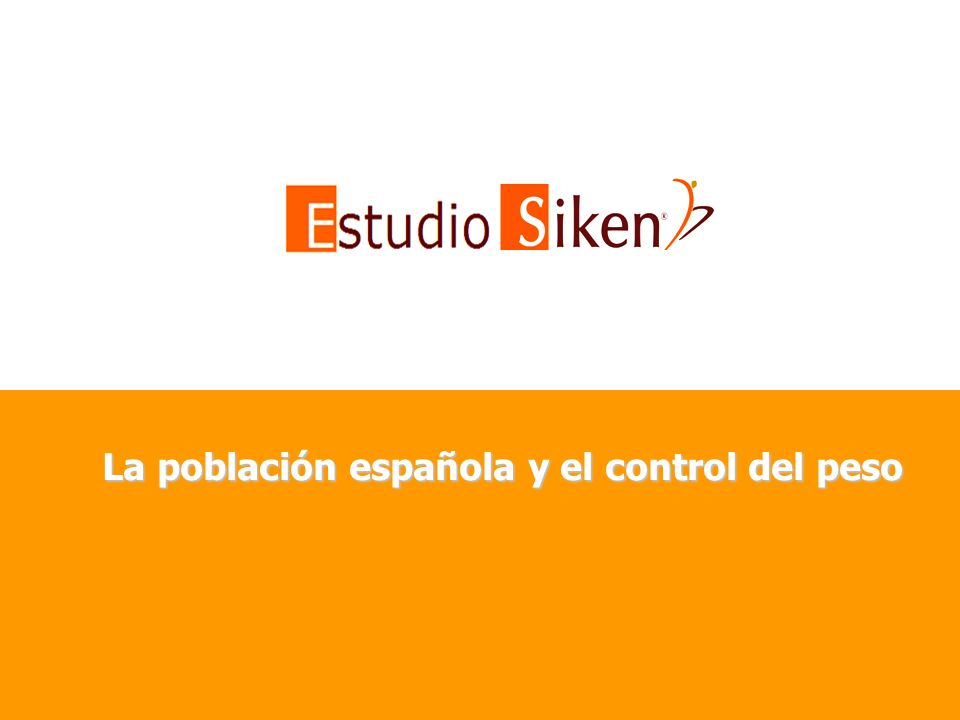 La población española y el control del peso