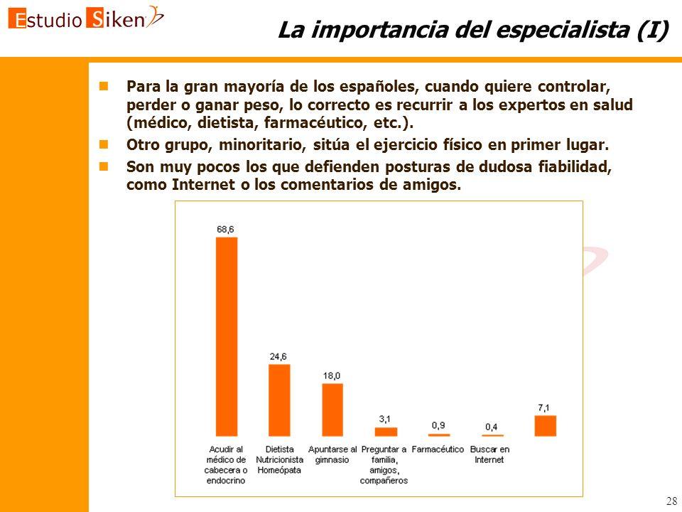 La importancia del especialista (I)