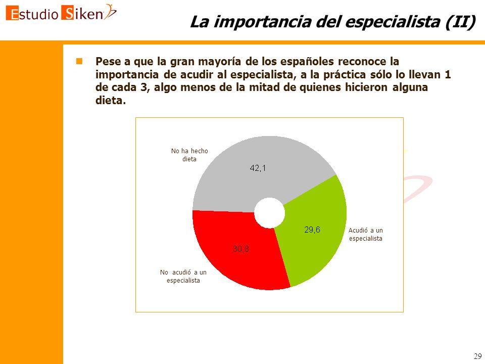 La importancia del especialista (II)