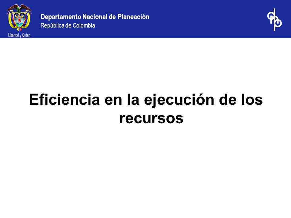 Eficiencia en la ejecución de los recursos