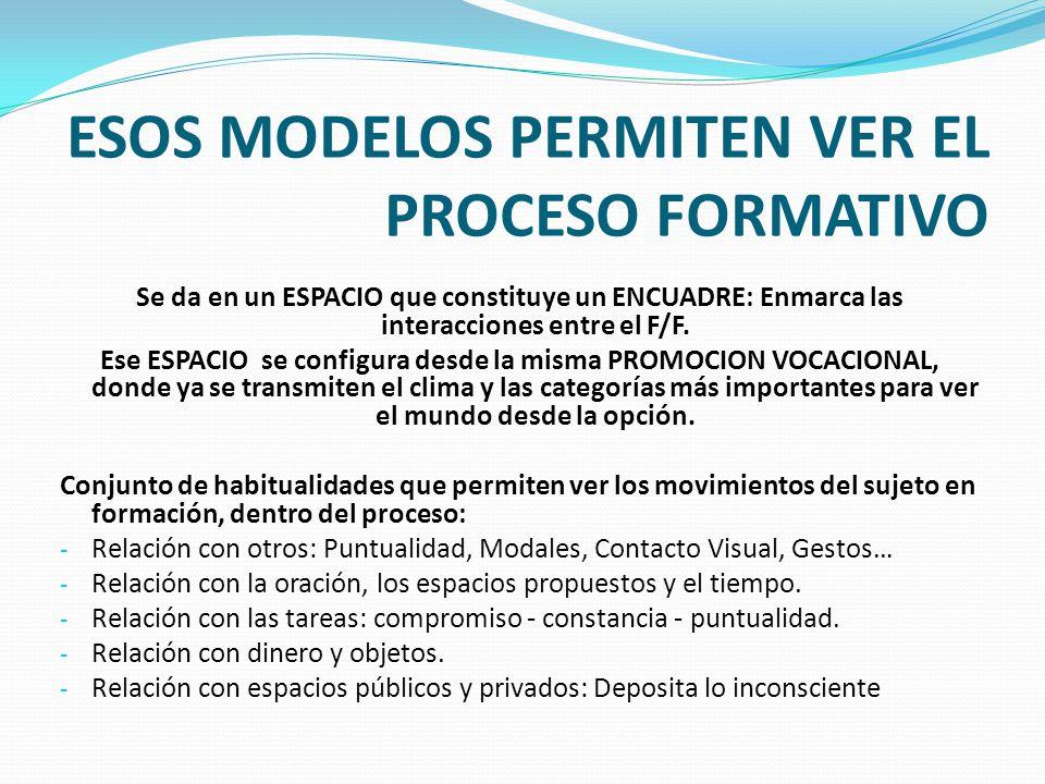 ESOS MODELOS PERMITEN VER EL PROCESO FORMATIVO