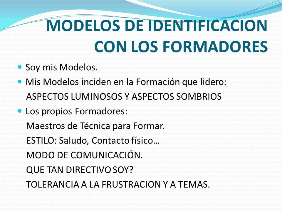 MODELOS DE IDENTIFICACION CON LOS FORMADORES