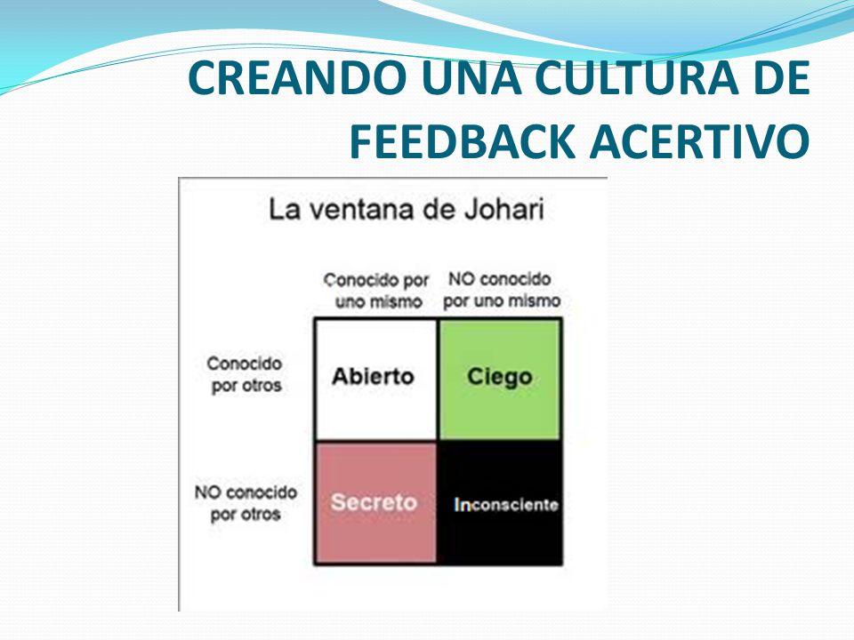 CREANDO UNA CULTURA DE FEEDBACK ACERTIVO