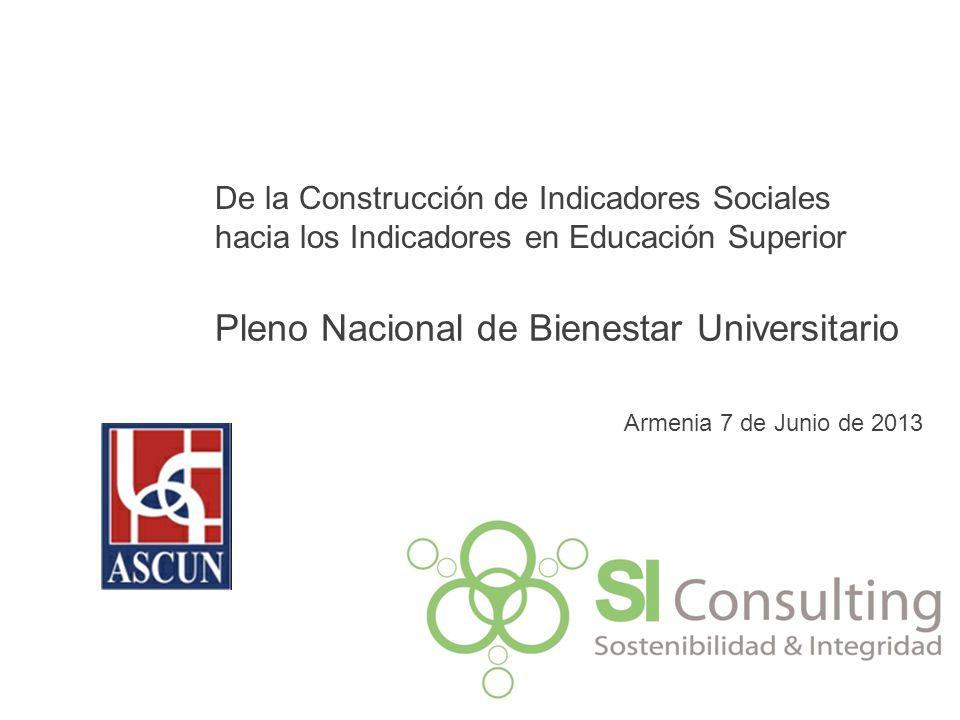 Pleno Nacional de Bienestar Universitario Armenia 7 de Junio de 2013