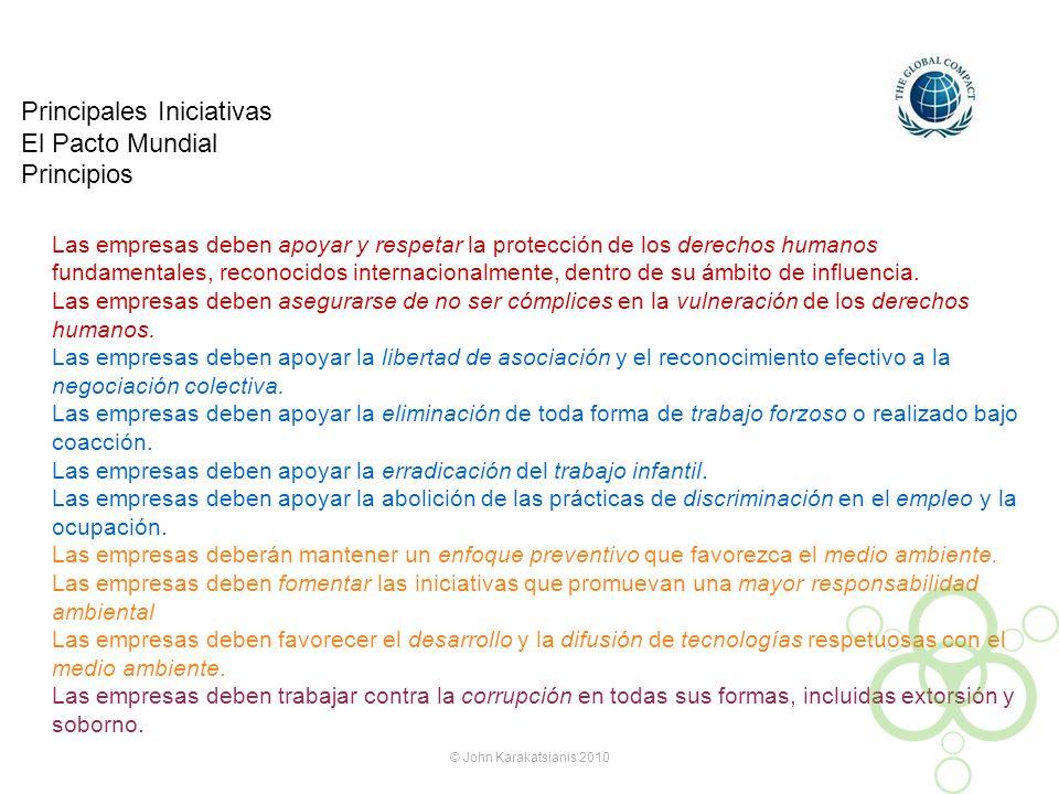 Principales Iniciativas El Pacto Mundial Principios