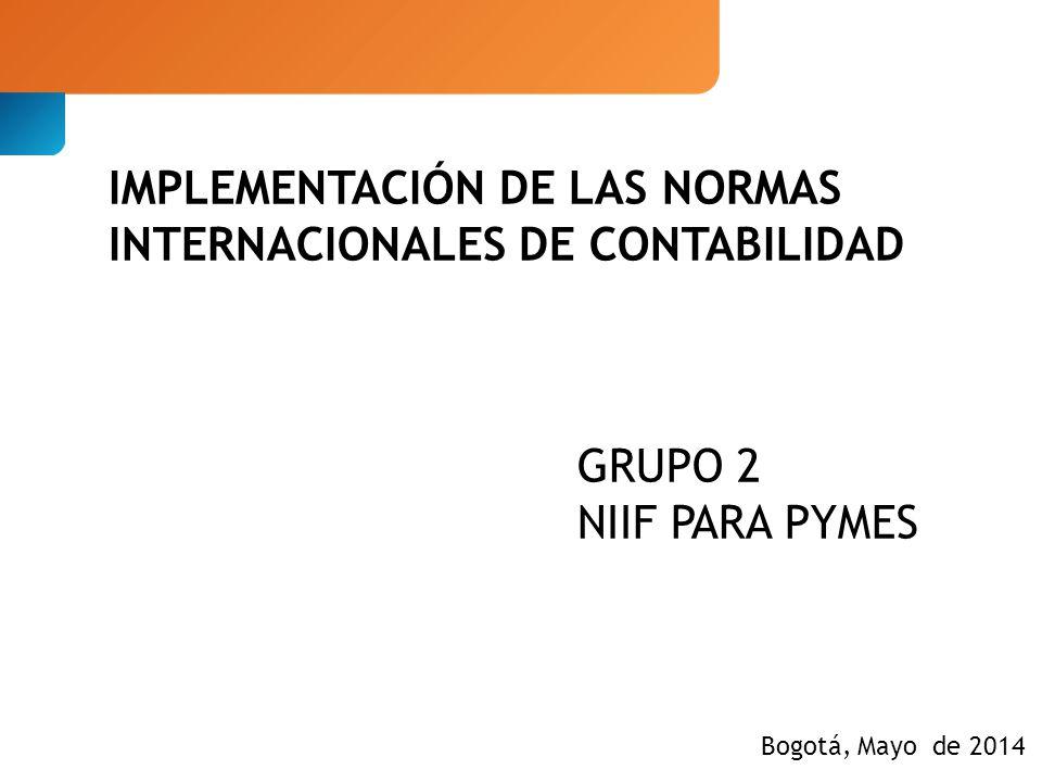 IMPLEMENTACIÓN DE LAS NORMAS INTERNACIONALES DE CONTABILIDAD