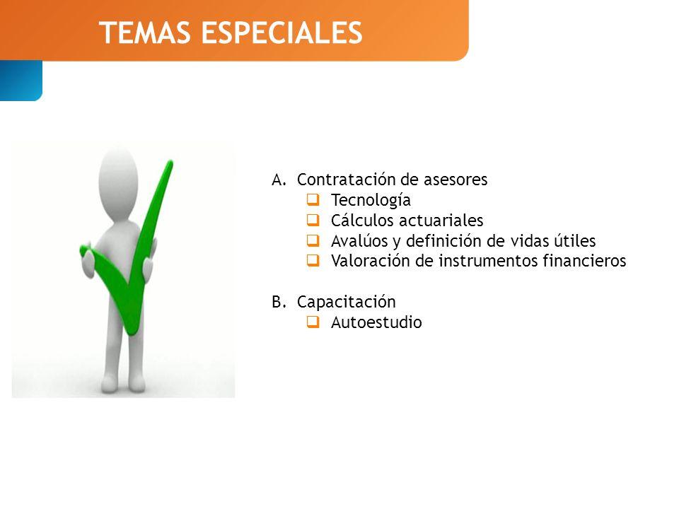 TEMAS ESPECIALES Contratación de asesores Tecnología