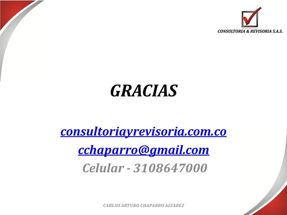 consultoriayrevisoria.com.co cchaparro@gmail.com Celular - 3108647000