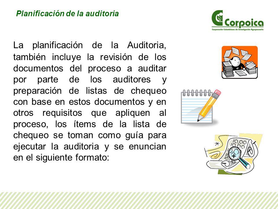 Planificación de la auditoria