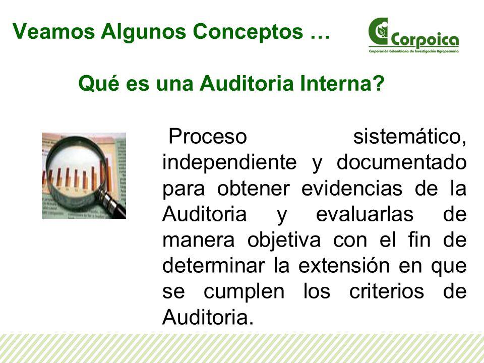 Veamos Algunos Conceptos … Qué es una Auditoria Interna