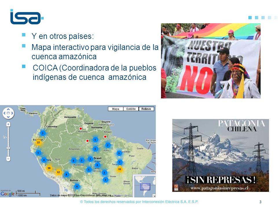 Y en otros países: Mapa interactivo para vigilancia de la cuenca amazónica.