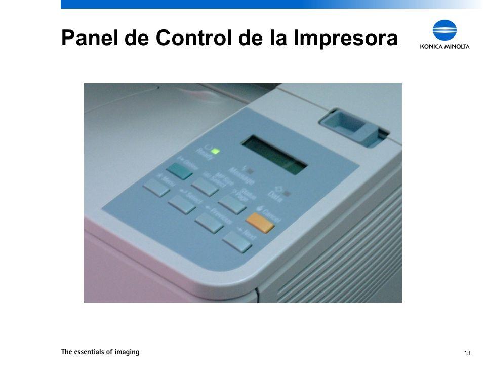 Panel de Control de la Impresora
