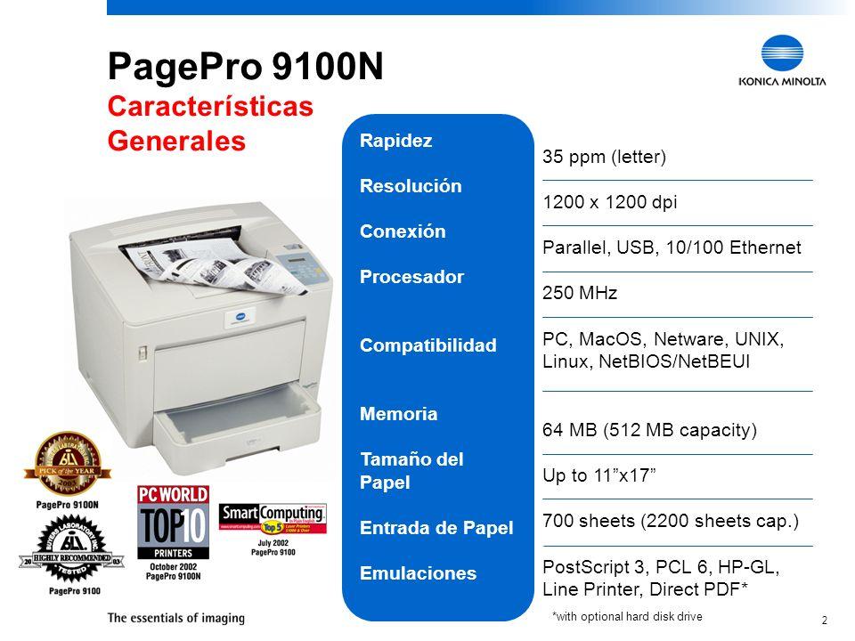 PagePro 9100N Características Generales