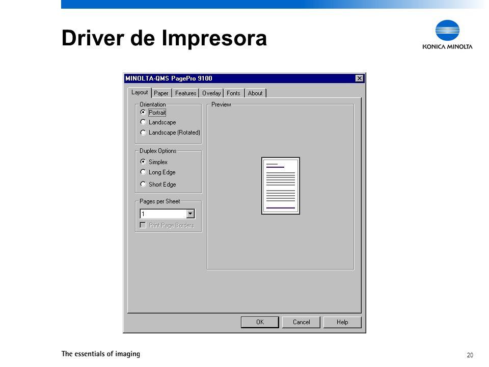Driver de Impresora