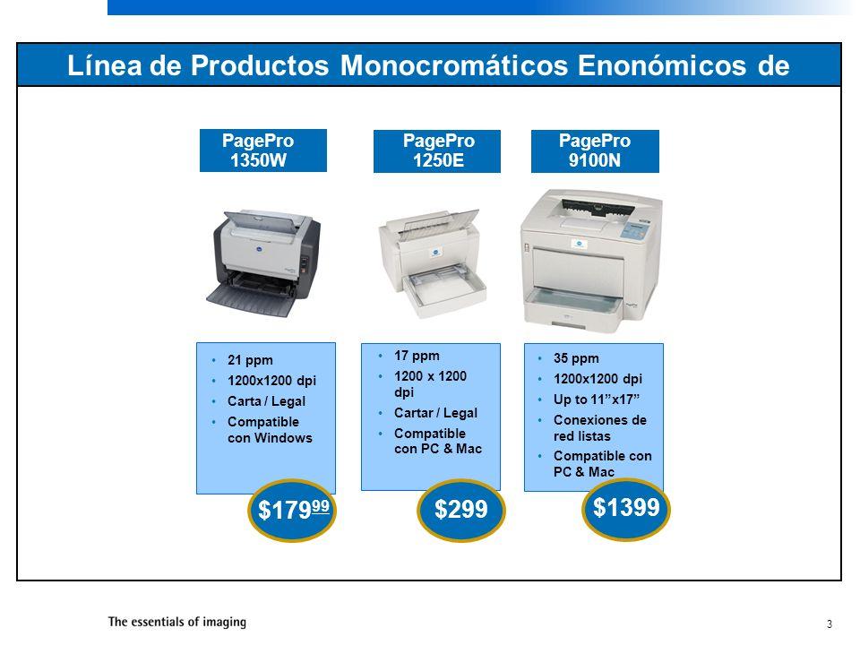 Línea de Productos Monocromáticos Enonómicos de KONICA MINOLTA