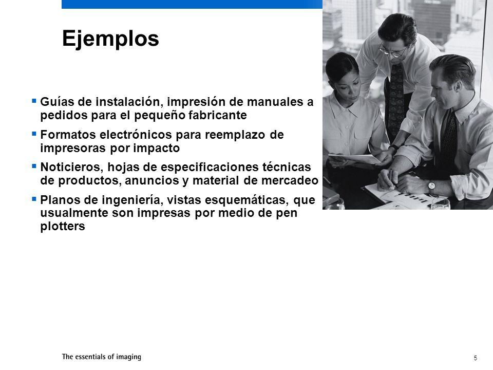 EjemplosGuías de instalación, impresión de manuales a pedidos para el pequeño fabricante.