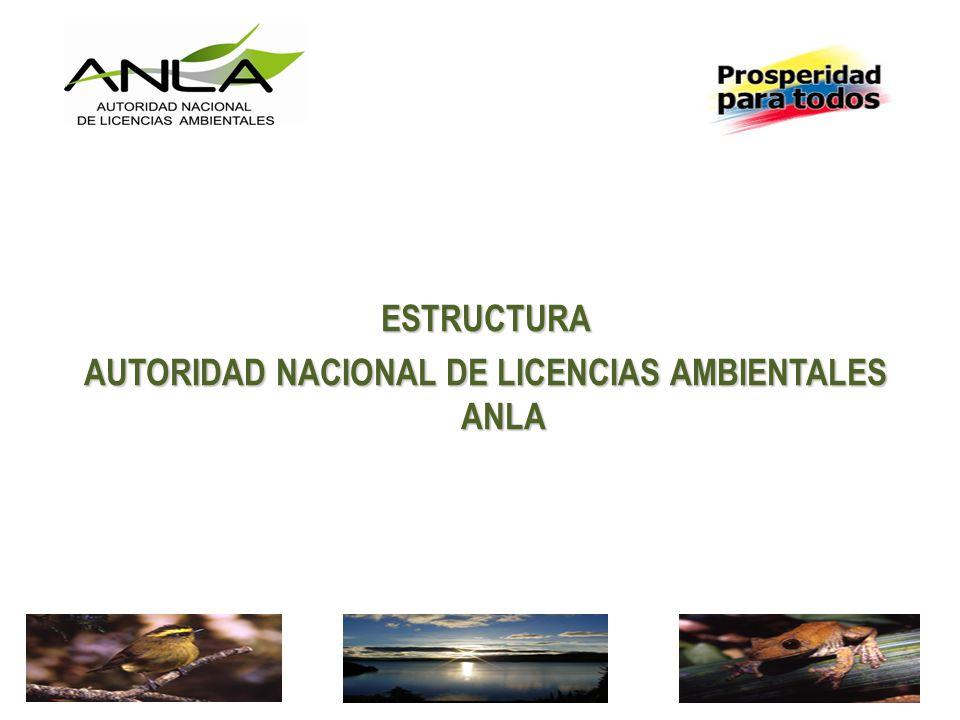 AUTORIDAD NACIONAL DE LICENCIAS AMBIENTALES ANLA