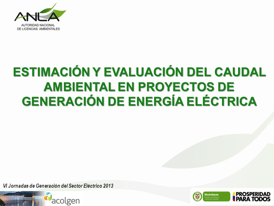ESTIMACIÓN Y EVALUACIÓN DEL CAUDAL AMBIENTAL EN PROYECTOS DE GENERACIÓN DE ENERGÍA ELÉCTRICA
