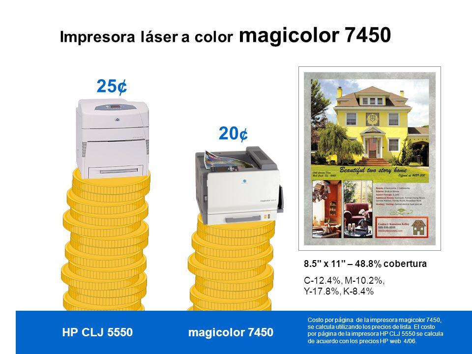 25¢ 20¢ Impresora láser a color magicolor 7450 HP CLJ 5550
