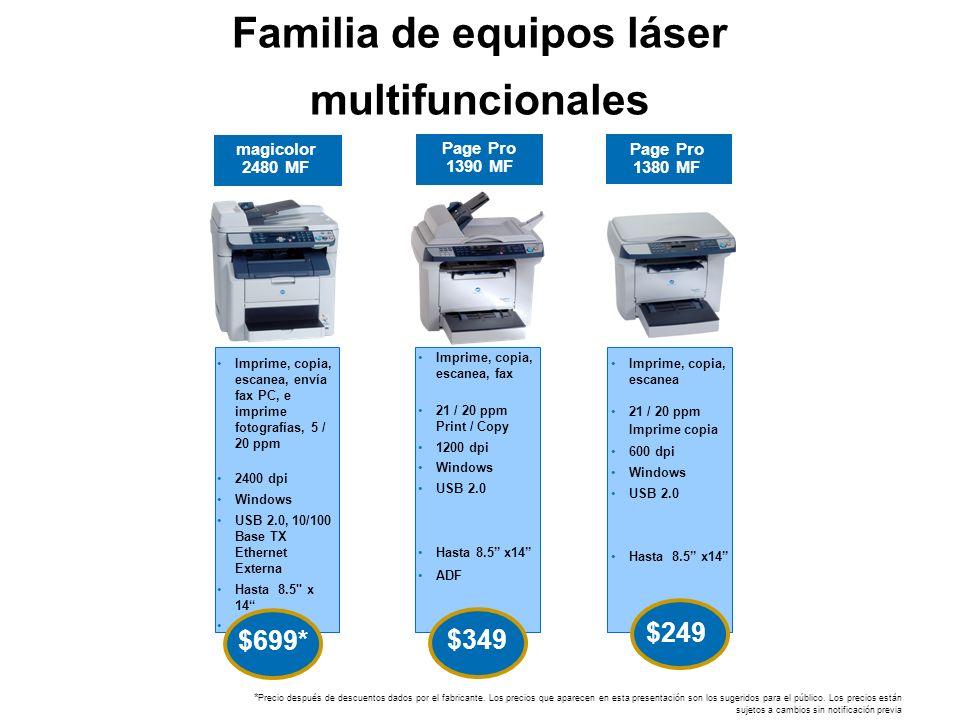 Familia de equipos láser multifuncionales