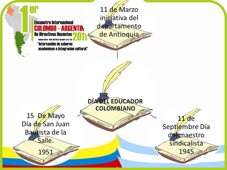 DÍA DEL EDUCADOR COLOMBIANO