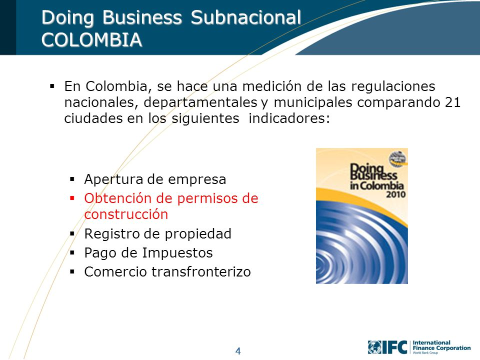 Doing Business Subnacional COLOMBIA