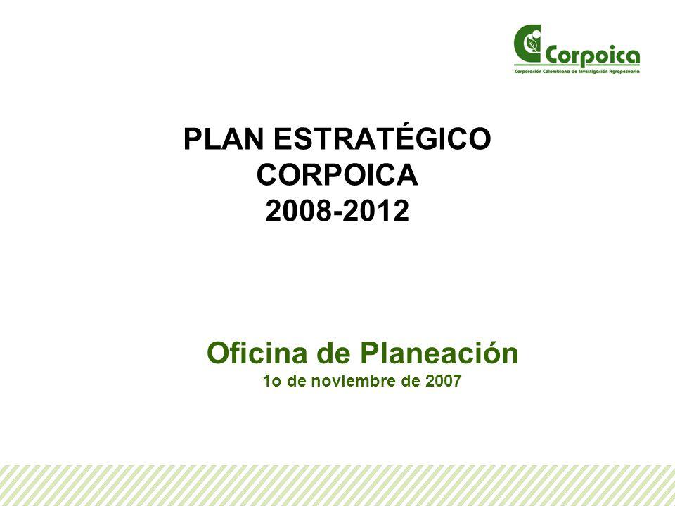 PLAN ESTRATÉGICO CORPOICA 2008-2012